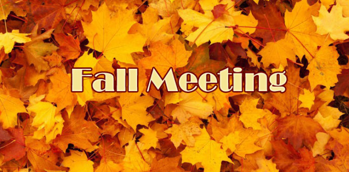 Notice: Fall MeetingInformation